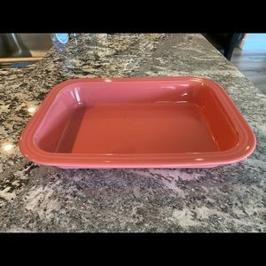 Fiestaware Rectangle Baker in Flamingo